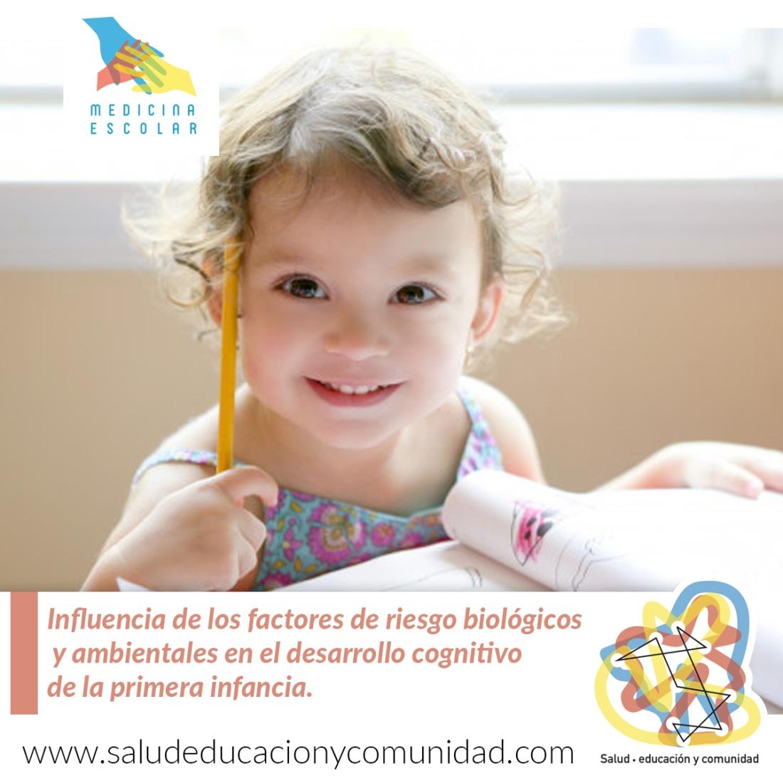 Influencia de los factores de riesgo biológicos y ambientales en desarrollo cognitivo de la primera infancia